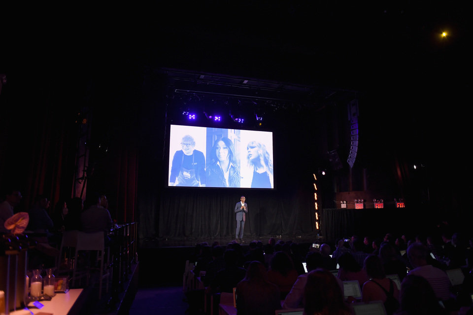 Spotify unveiled a new version of its, ad-supported experience today at New York's Gramercy Theatre.JPG
