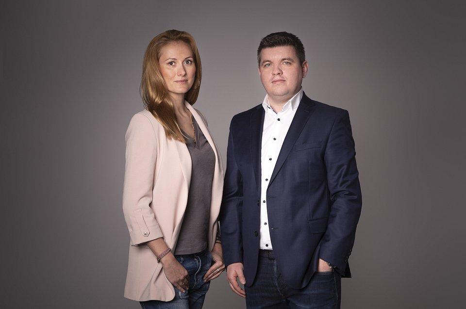 (od lewej) Sylwia Tygielska i Marcin Dobrzyniecki