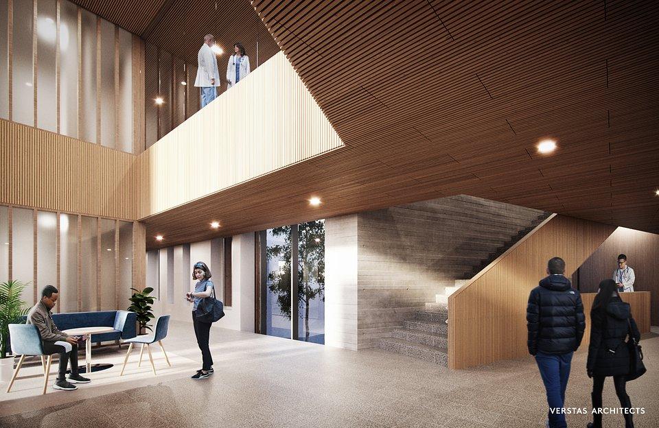 Drewno będzie stosowane w całej strukturze wewnętrznej i zewnętrznej. Zdjęcie: © Verstas Architects