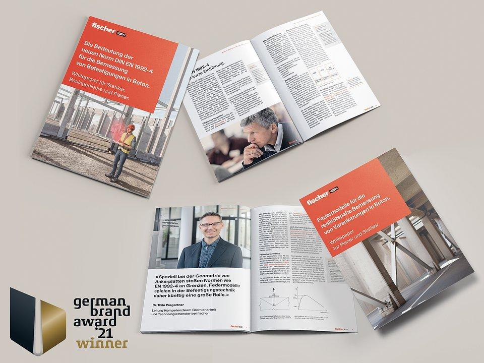 """Dzięki swojej strategii treści, fischer stał się pierwszym źródłem informacji dotyczących produktów mocujących we wszystkich kanałach informacji. W zamian fischer otrzymał najwyższą nagrodę w kategorii """"Skuteczna strategia treści i komunikacja marki – Storytelling & Content Marketing"""" podczas German Brand Award 2021. Zdjęcie: fischer"""
