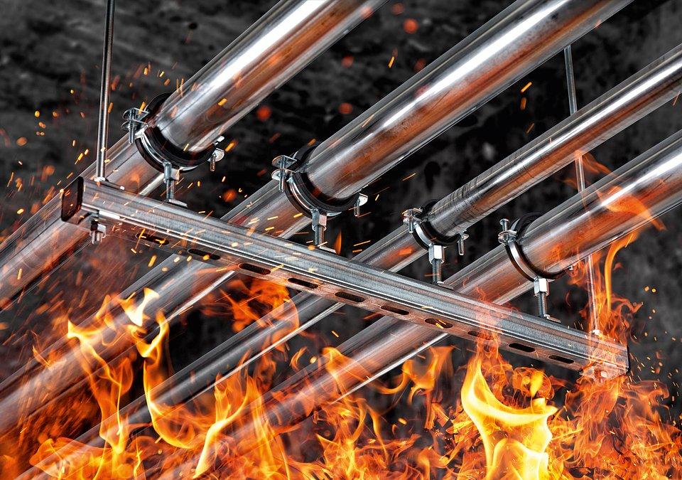 Projektanci i wykonawcy mogą dzięki systemowi FUS bezpiecznie projektować i budować instalacje z wymaganiami ochrony przeciwpożarowej. Zdjęcie: fischer