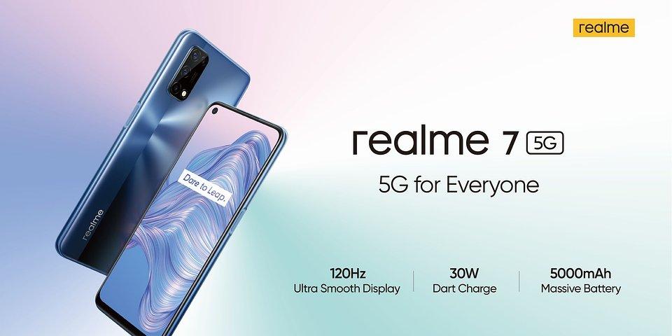 realme 7 5G będzie oferował komunikację 5G w niewygórowanej cenie