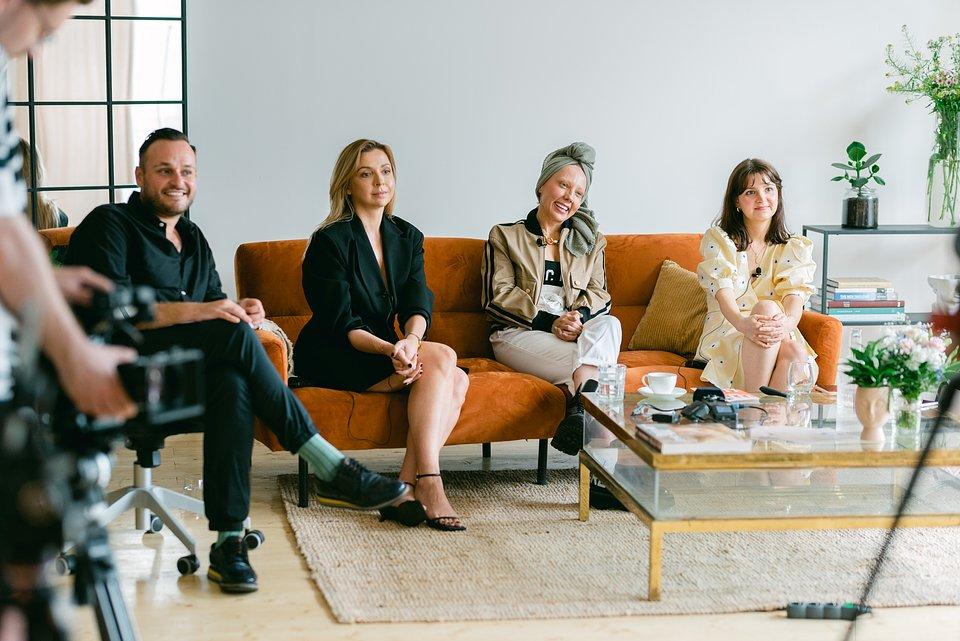 MODIVO POWER DRESSING - Maciej Spadło, Marta Waluk, Ola Szol, Kara Becker (od lewej)