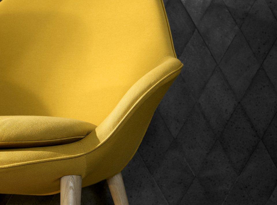 Żółta tkanina Leeds.