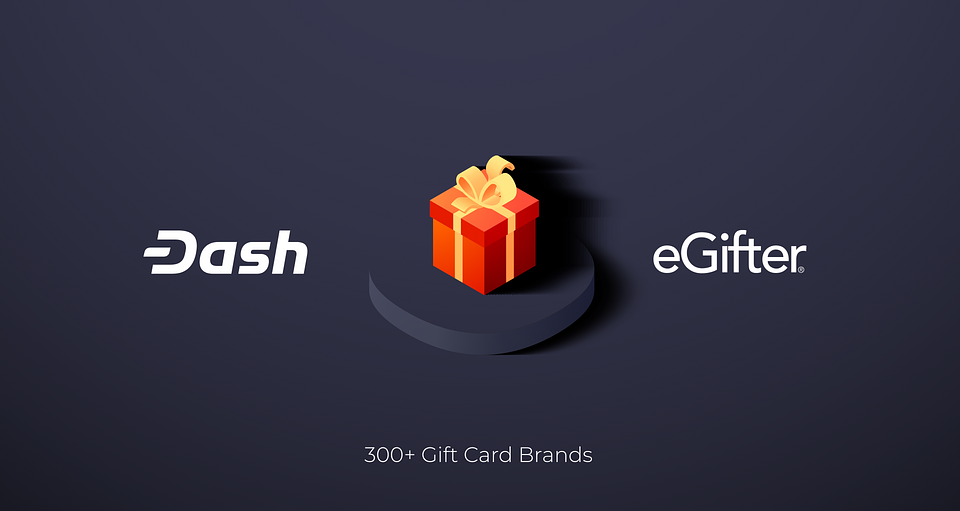 Shop at over 300+ retailers with eGifter and get up to 12.5% DashBack in rewards when you pay with Dash.