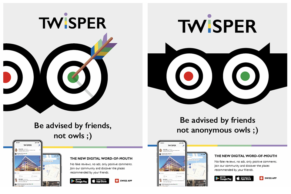 TWISPER's recent ad campaign on partner magazine easyJet Traveller.