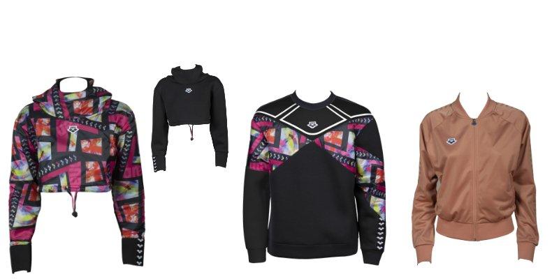 1) REVERSIBLE SWEAT - Black Multicolor - 99,95 EUR                                                            2) SWEAT PANEL - Multi Black - 89,95 EUR 3) RELAX IV TEAM - Powder Pink - 59,95 EUR