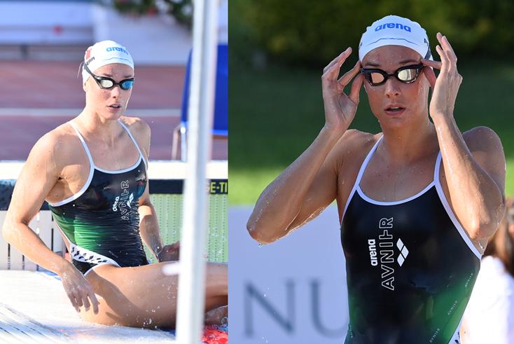Margherita Panziera, campionessa europea nei 200m dorso, indossa arena x AVNIER _Credits La Presse ph. Alfredo Falcone