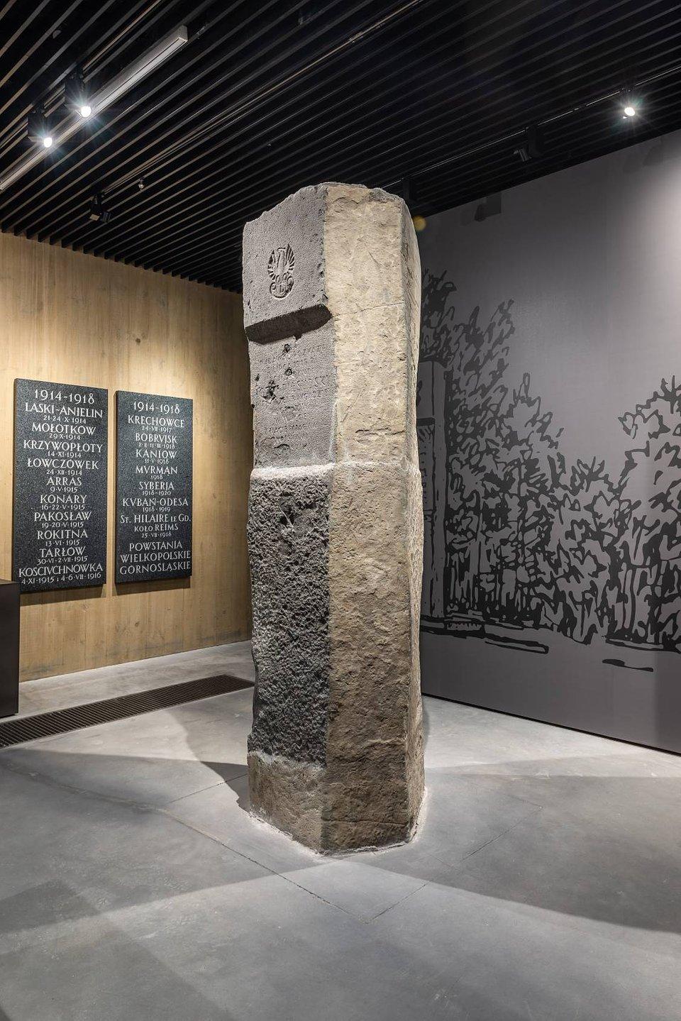 Słup Pamięci z pola bitwy pod Kostiuchnówką, Muzeum Józefa Piłsudskiego w Sulejówku , materiały prasowe