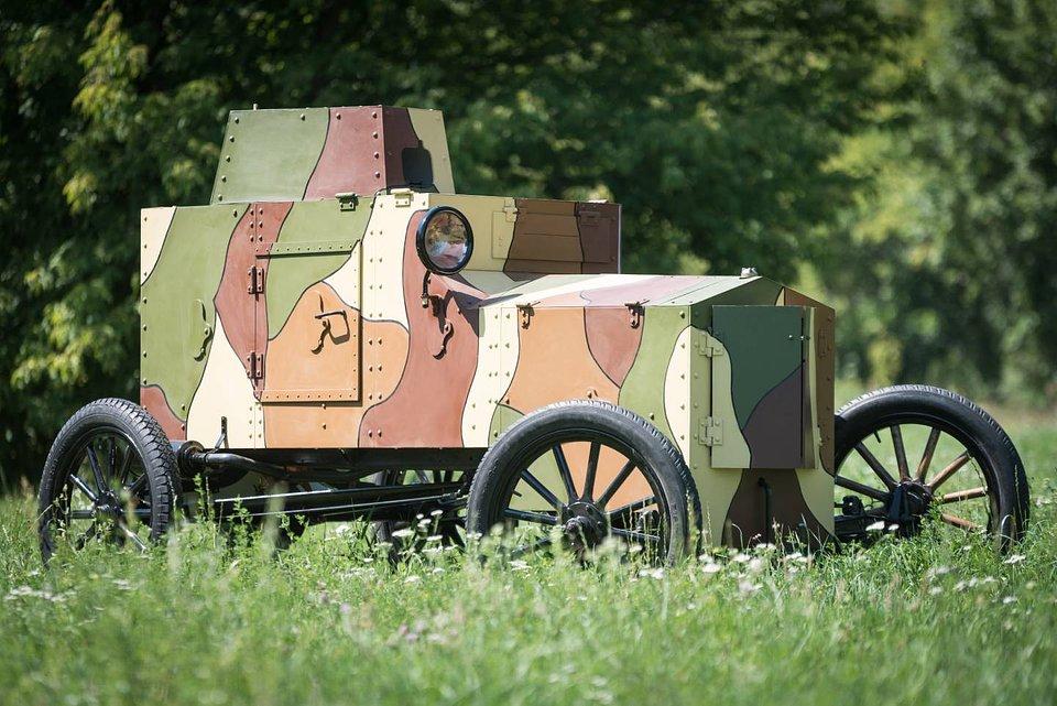 Replika samochodu pancernego Ford FT-B, Muzeum Józefa Piłsudskiego w Sulejówku, materiały prasowe