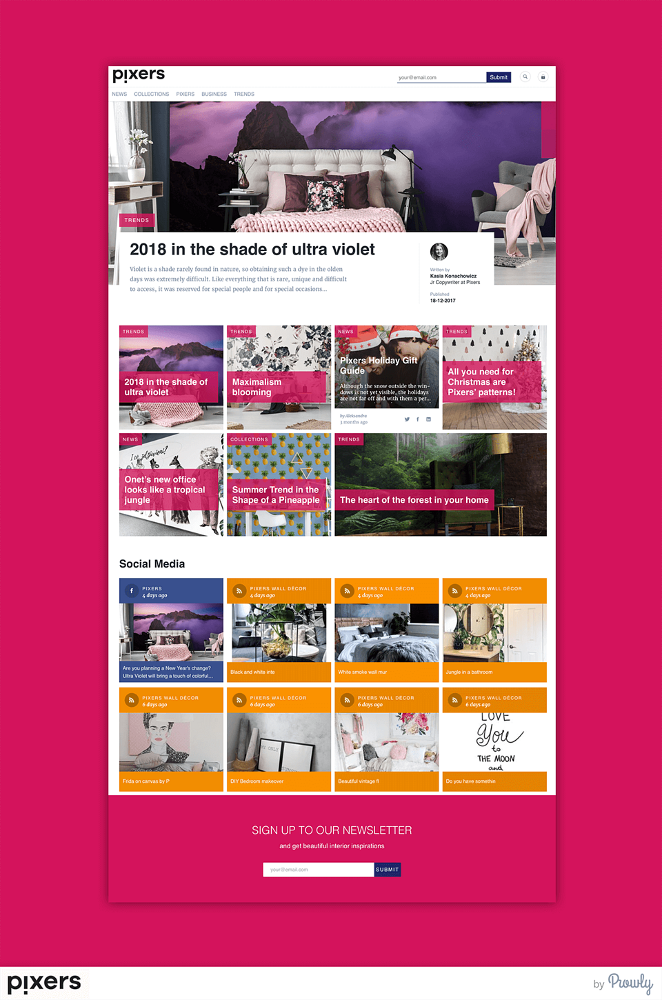 Pixers Brand Journal main page