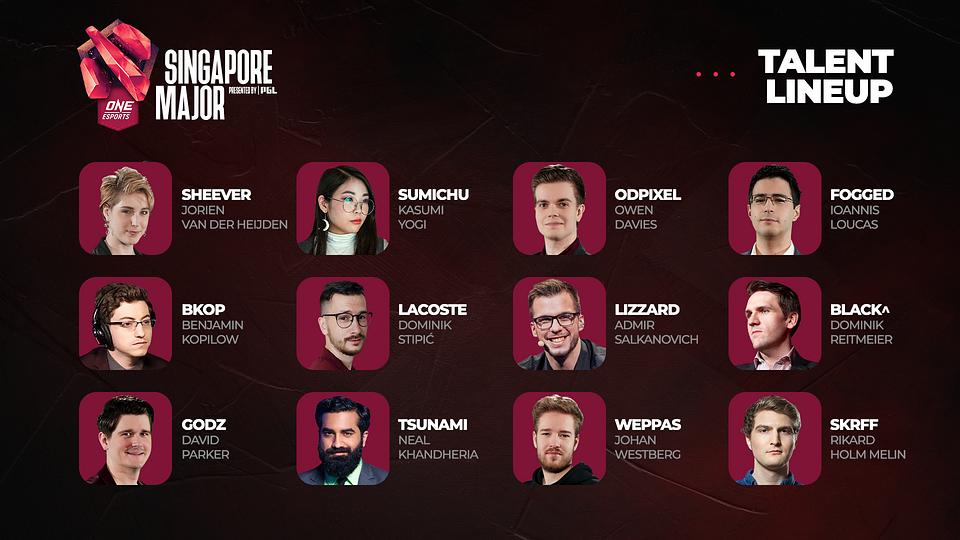 Talent lineup