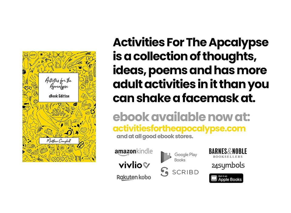 3Activities For The Apcalypse is a collection of thoughts, ideas, poems and has more adult activities in it than you can shake a facemask at..jpg