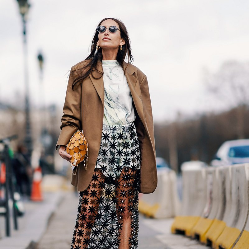 Chloe Harrouche wearing Mango at PFW - rights from 07032019 PR+SM WW - Getty Images.jpg