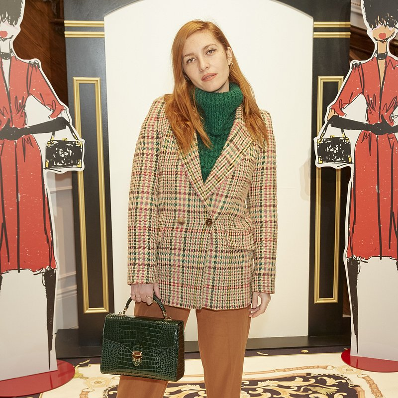 Josephine de la Baume wearing Mango at LFW - rights from 07032019 PR+SM WW - Getty Images.jpg
