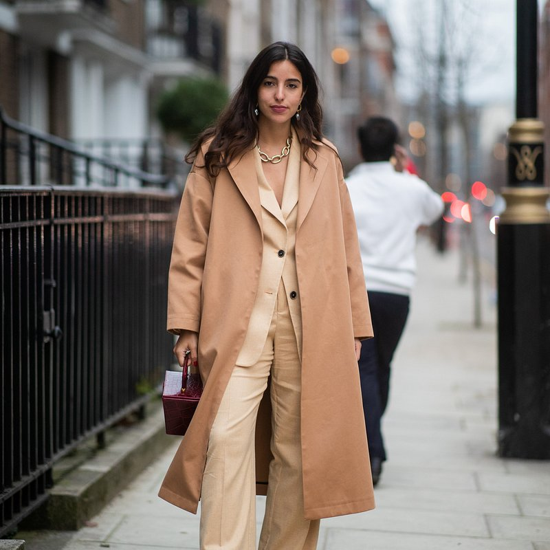 Bettina Looney wearing Mango at LFW - rights from 07032019 PR+SM WW - Getty Images.jpg