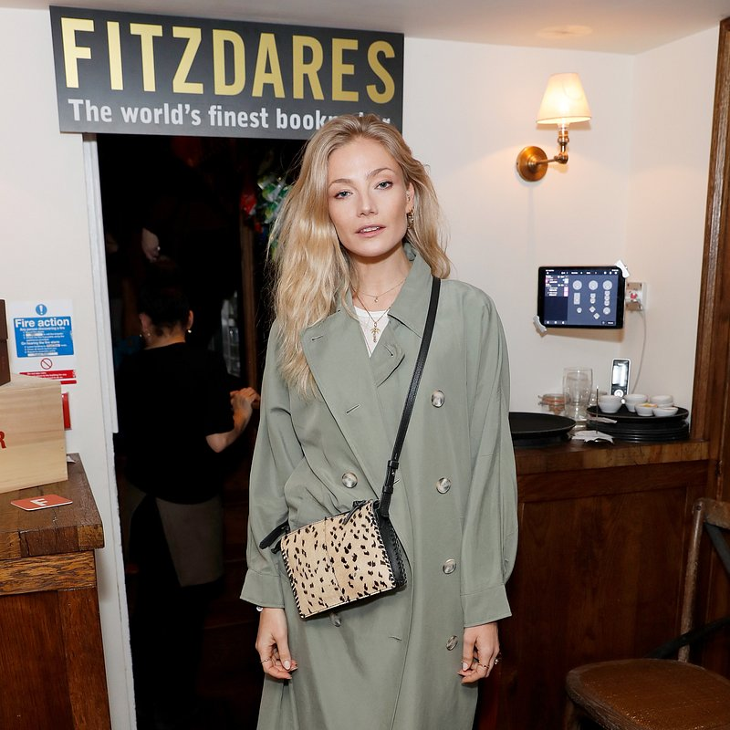 Clara Paget wearing Mango at LFW - rights from 07032019 PR+SM WW - Getty Images.jpg