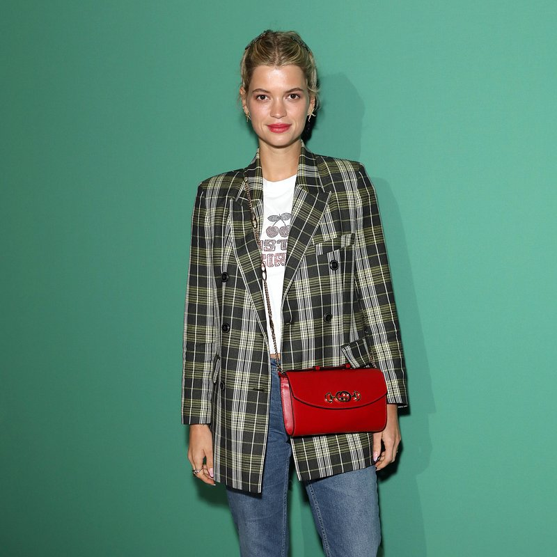 Pixie Geldof in Mango plaid jacket- Rights from 17092019 PR+Social Media GettyImages. Pictured at LFW (Port's show).jpg