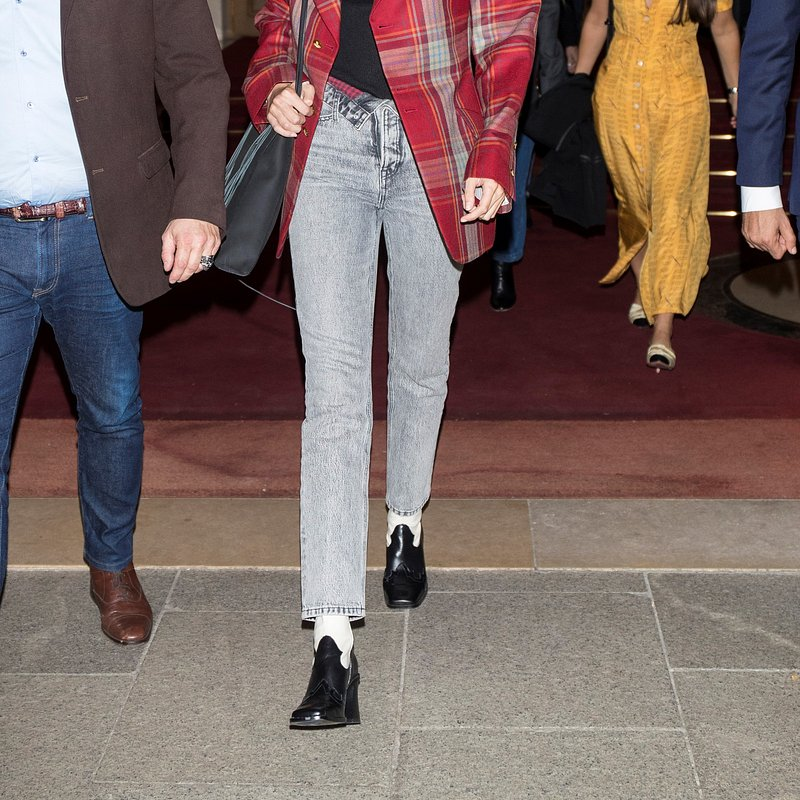Gigi Hadid wearing Mango boots. Rights from getty images. Pictured during PFW.jpg