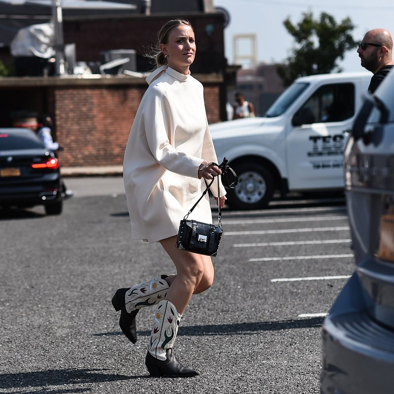 Rebecca Laurey Cowboy boots- Rights from 17092019 PR+Social Media GettyImages. Pictured during NYFW  (Michael Kors).jpg