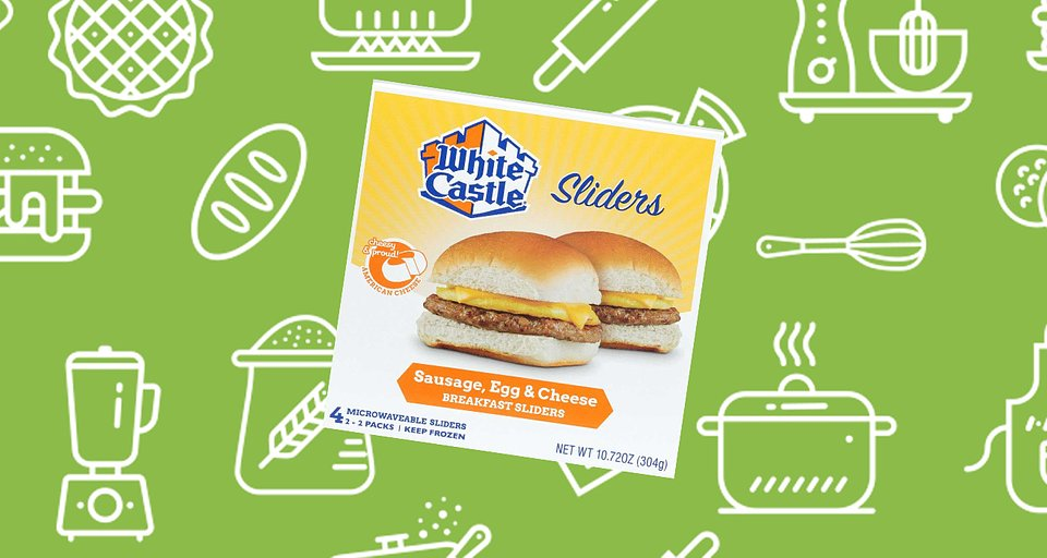 White Castle Egg and Cheese Breakfast Sausage Sandwich.jpg