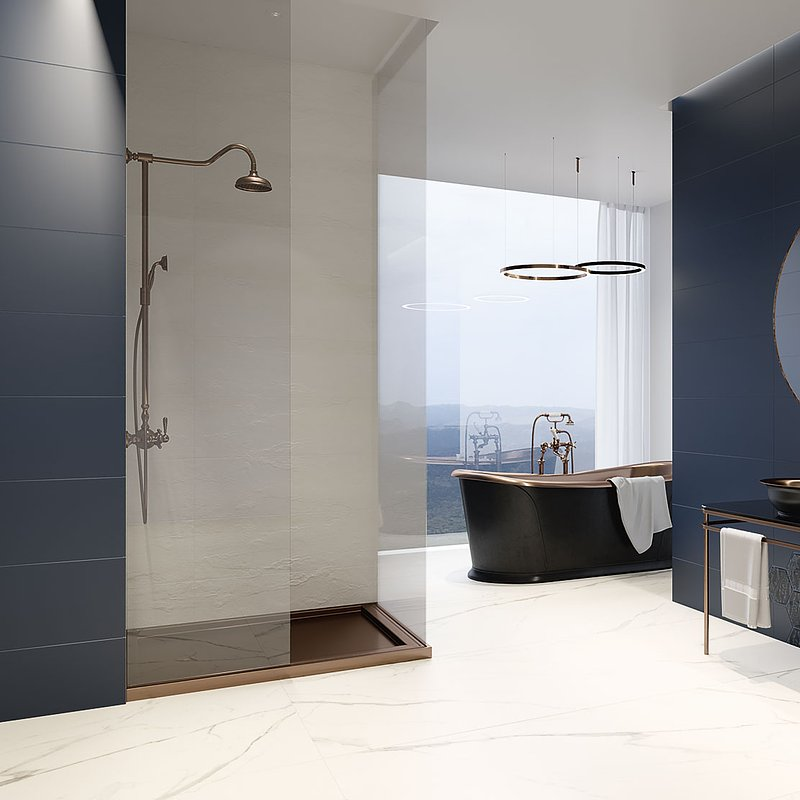 Urban-Colours-Bianco-Struktura-A-298x898_blue-298x898_blue-inserto-szklane-heksagon-198x171_blue-inserto-szklane-heksagon-A,B,C-_-Calacatta-mat-898x1798.jpg
