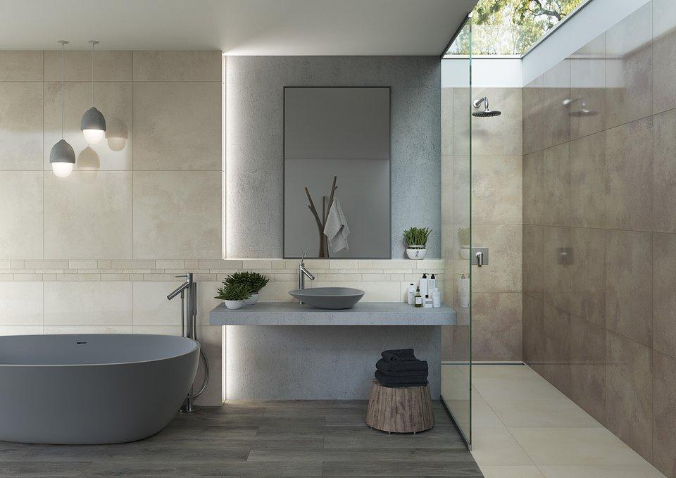 Aranżacja łazienkowa z wykorzystaniem kabiny prysznicowej i wanny_ Kolekcja Naturstone.jpg