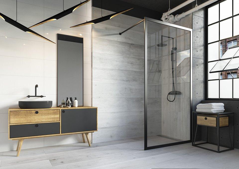 Aranżacja łazienkowa z kabina w stylu walk-in_Kolekcja Tammi.jpg