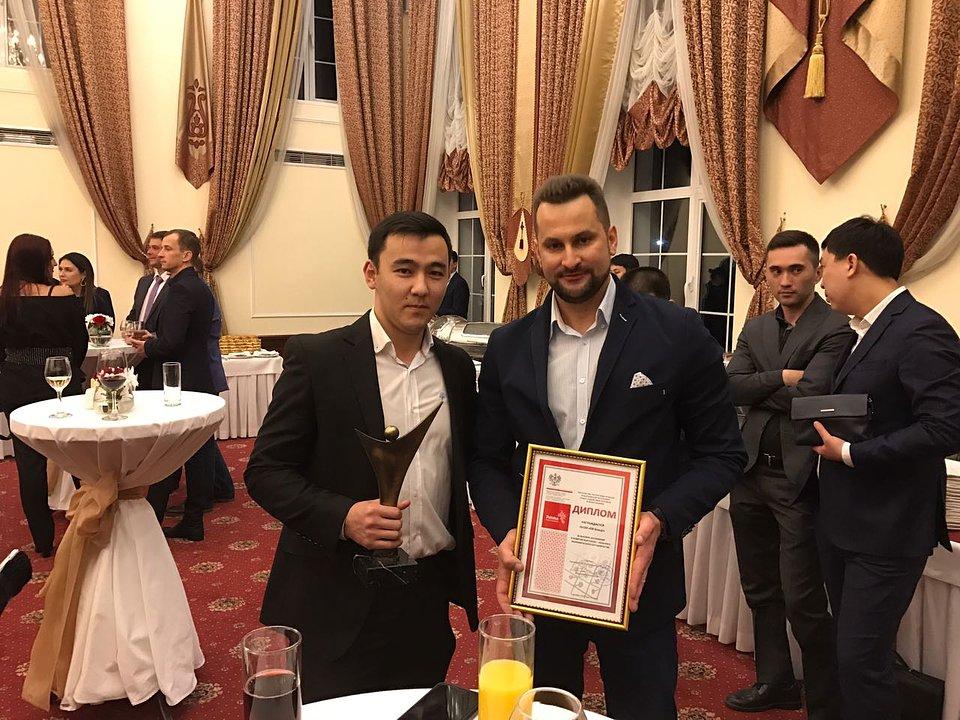 Mened╛er Eksportu Artur Borowiecki podczas Polsko-Kirgijskiego wieczoru .jpg