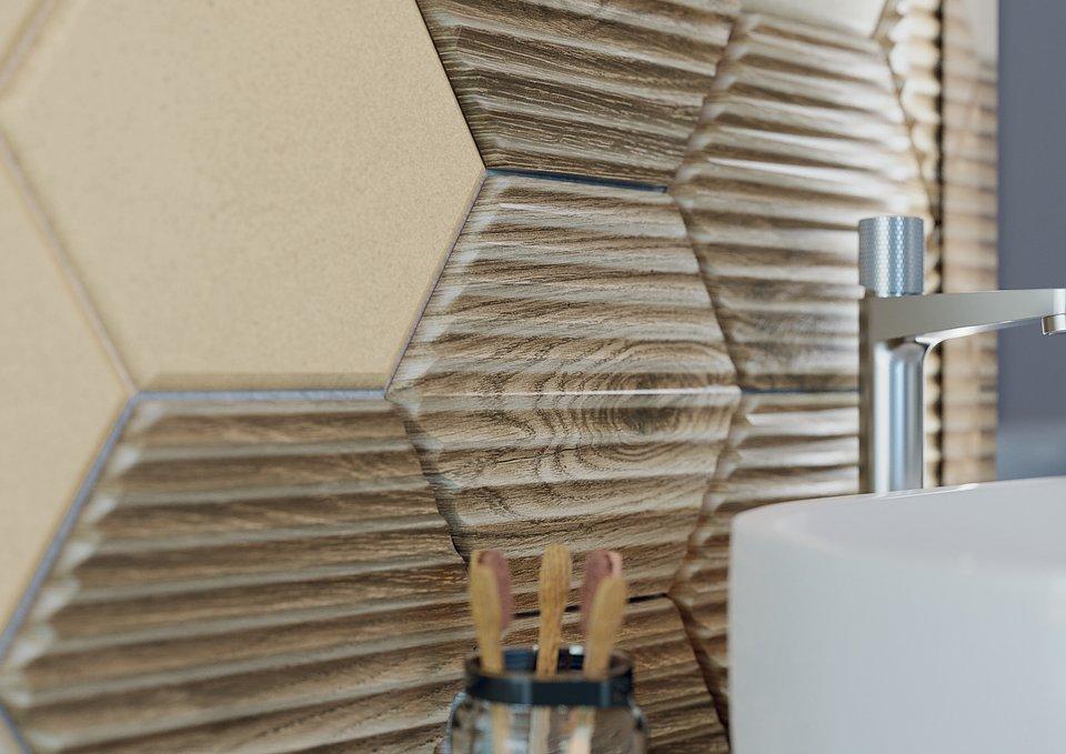 Serene-Brown_beige_beige-struktura-25x75_beige-heksagon_brown-heksagon-struktura-17,1x19,8_SILKDUST-LIGHT-BEIGE-MAT-59,8×59,8_detal.jpg