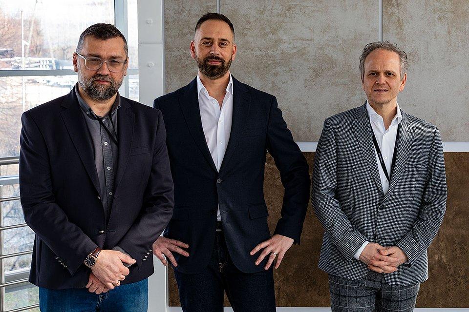 Od lewej: Tomasz Sokołowski, Michael Haupenthal oraz Giuseppe Lombardo