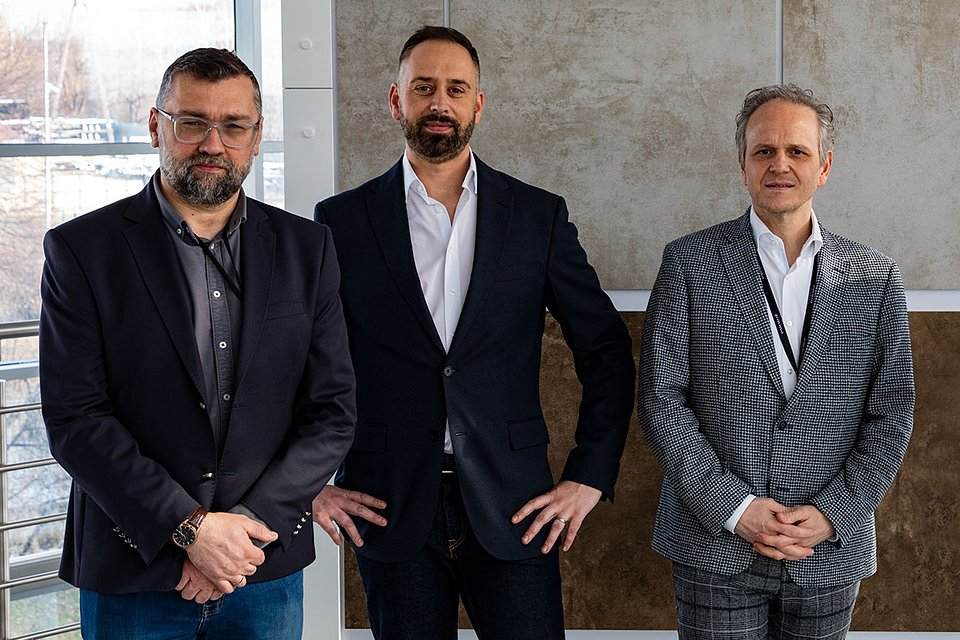Von links: Tomasz Sokołowski, Michael Haupenthal oraz Giuseppe Lombardo