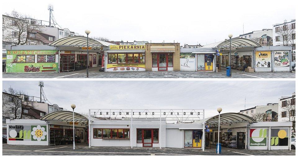 Targowisko w Orłowie przed/po  Foto: Rafał Kołsut