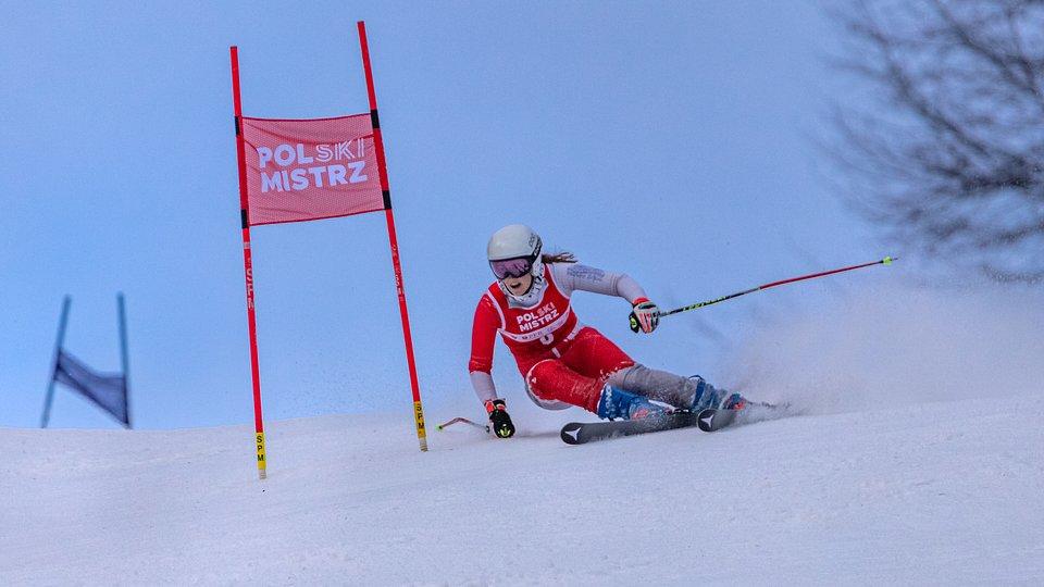 Patrycja Florek na trasie slalomu giganta