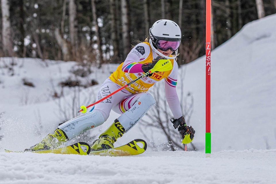 Hanna Zięba na trasie slalomu.