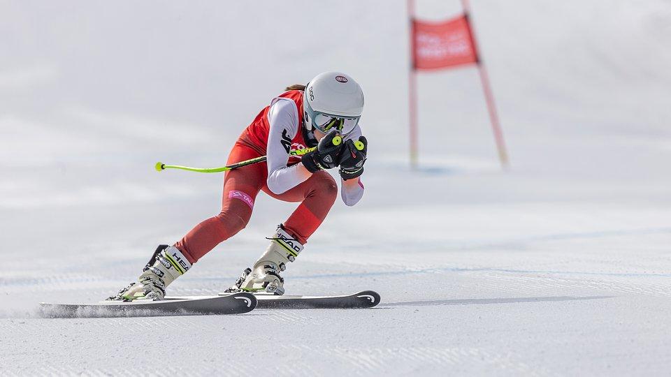 Katarzyna Wąsek na trasie super giganta