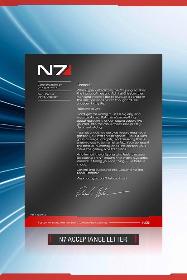 N7 ACCEPTANCE LETTER