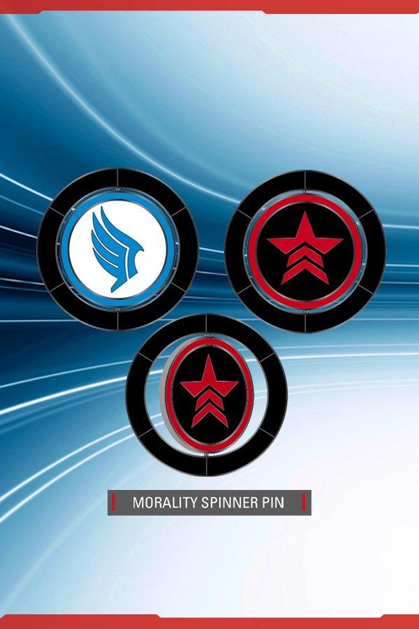 MORALITY SPINNER PIN