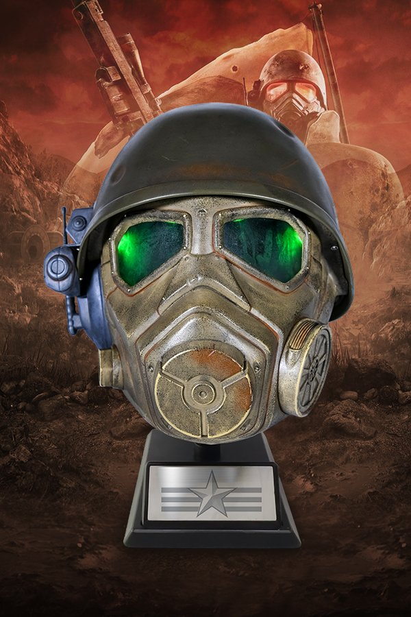 Fallout NCR Desert Ranger Helmet and Display Stand