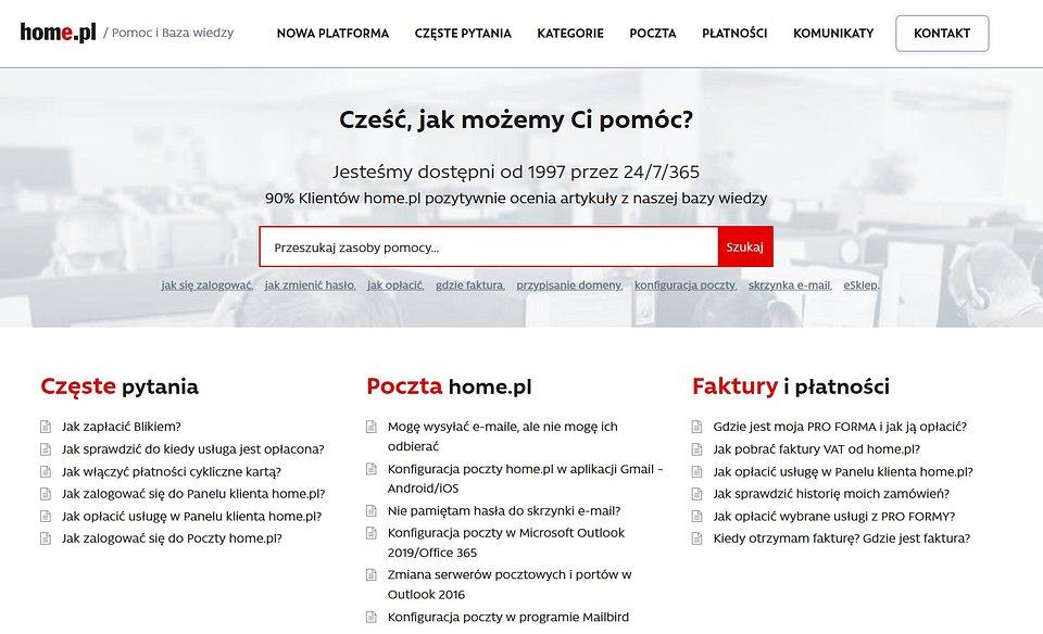 pomoc.home.pl to największa i najczęściej czytana dokumentacja techniczna w polskim Internecie. Ponad 2000 artykułów ułatwiających korzystanie z usług oraz prowadzenie firmy w Internecie.
