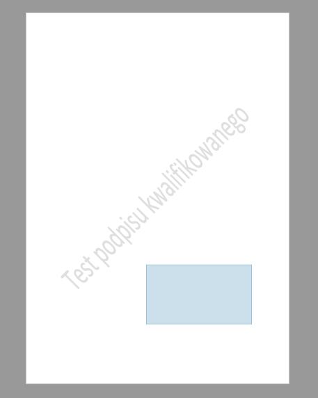 Wybierz, gdzie ma zostać umiejscowiona wizualizacja Twojego podpisu elektronicznego na dokumencie PDF.