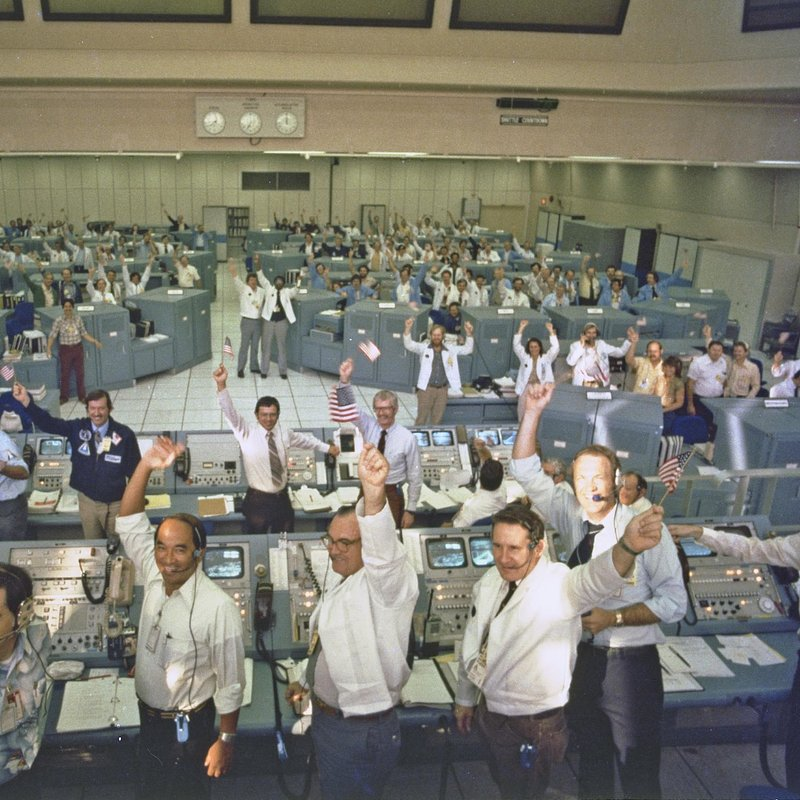 STS-1 Launch Team Celebrates_NASA Photo Number 81PC0364.jpg