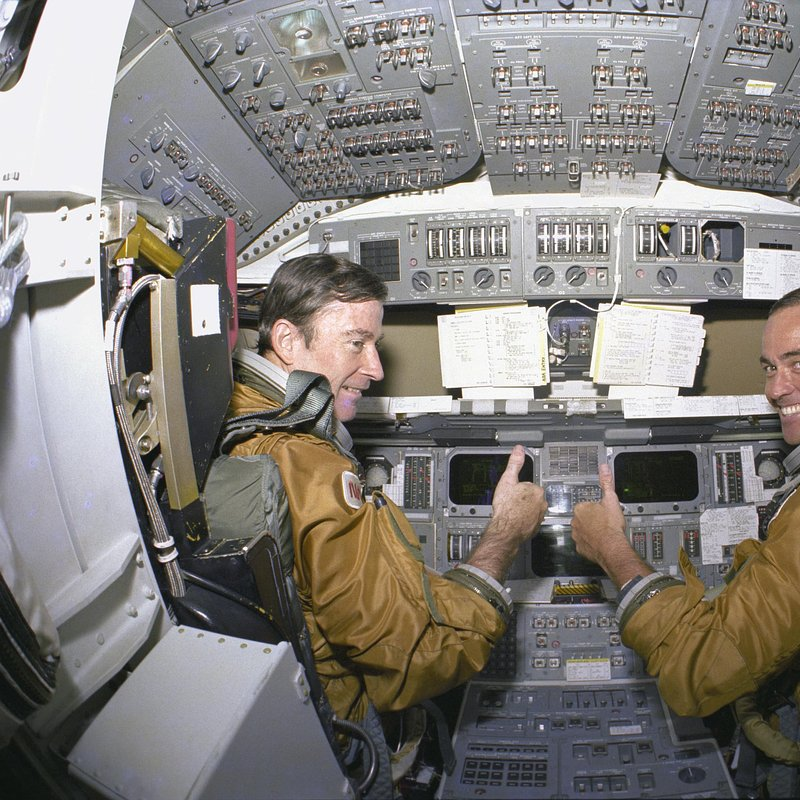 STS-1 John young and Bob Crippen in Cockpit of Columbia_NASA Photo Number _80PC0527.jpg