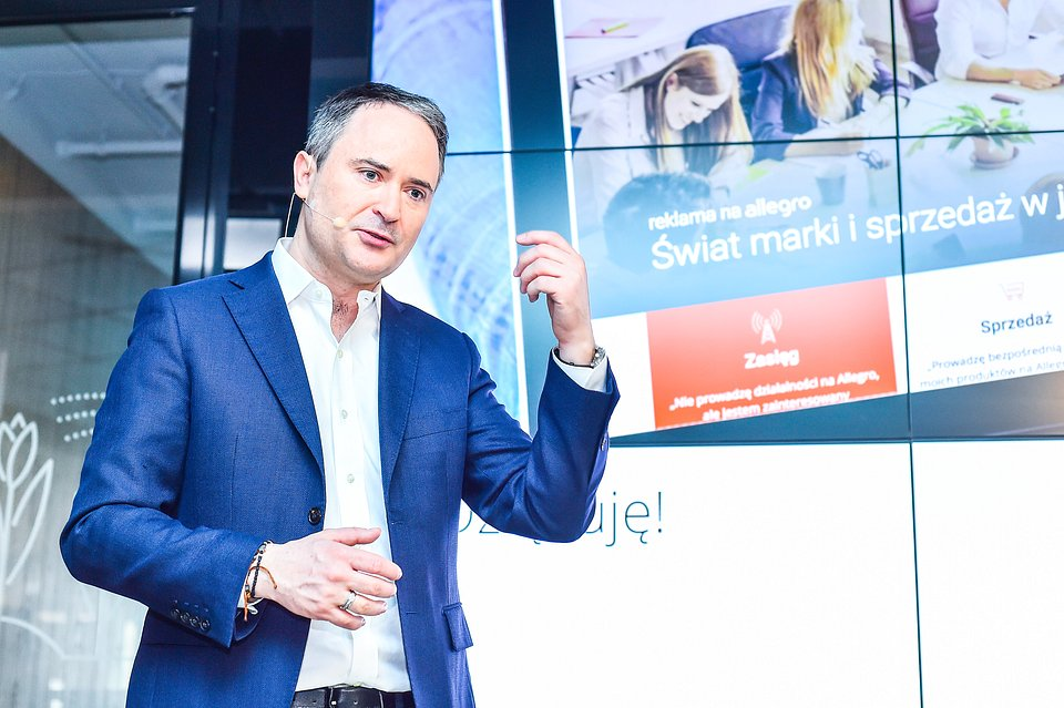 Na zdjęciu: Francois Nuyts, prezes Allegro. Fot. PAP