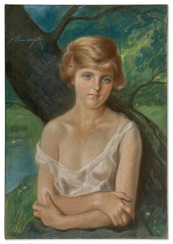 Jozef Unierzyski_Portret mlodej dziewczyny_przed 1914_pastel, papier naklejony na blejtram.jpg
