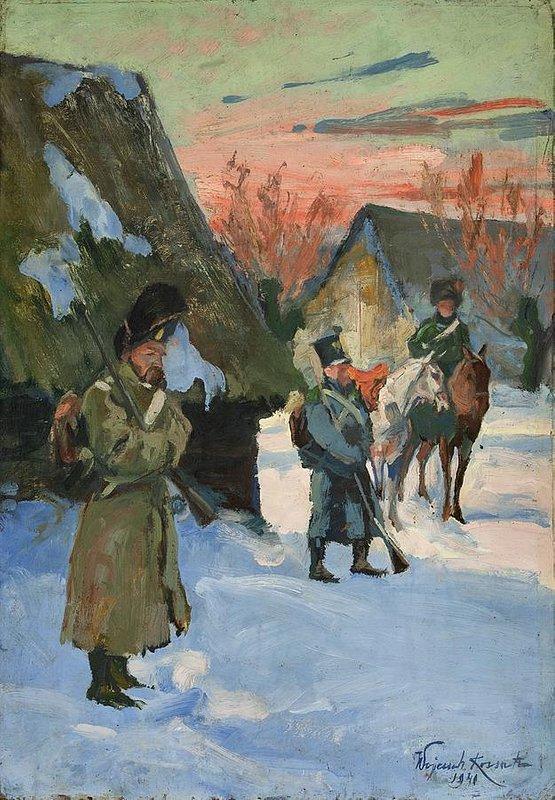 Wojciech Kossak_Odwrot spod Moskwy_1940_olej_plotno.jpg