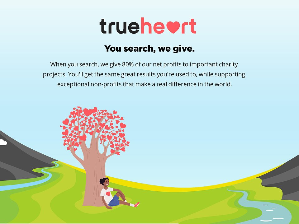 Trueheart Search Engine - You search the web, we give to charity