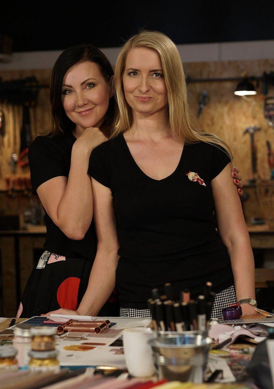 Ania i Beti, autorki bloga wnętrzarskiego Pani to Potrafi i prowadzące program
