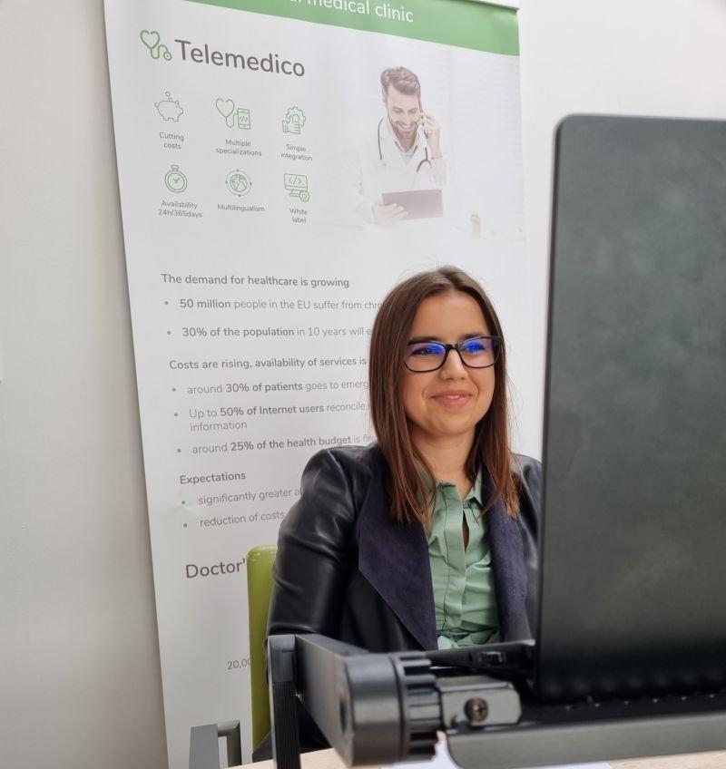 Monika Lubecka, COO Telemedi represented Telemedi during on-line ceremony.