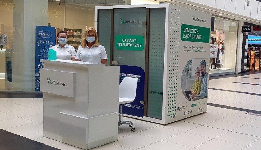 Telemedi medical booth in Borek Shopping Center